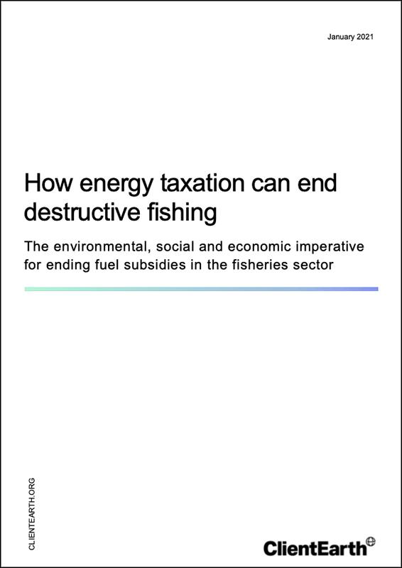 How energy taxation can end destructive fishing